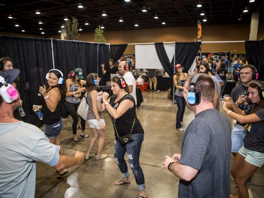 Huss Brewery's silent disco at the Real, Wild, & Woody