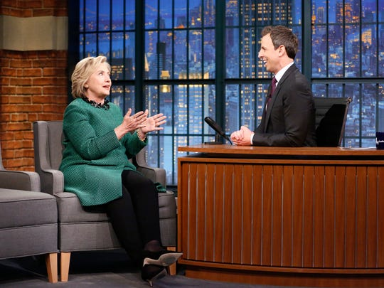 Seth Meyers chats with presidential candidate Hillary