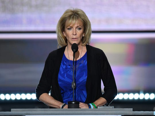 Mary Ann Mendoza, who's son was killed by an illegal immigrant, speaks during the 2016 Republican National Convention.