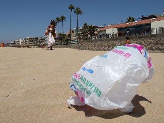 Plastic carry out bags have been essentially banned in California since the passage of Proposition 65 in 2016.