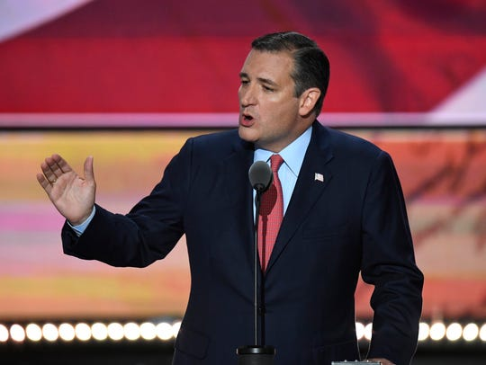 Sen. Ted Cruz, R-Texas, speaks during the Republican