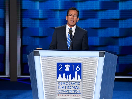 Connecticut Gov. Dannel Malloy speaks during the Democratic