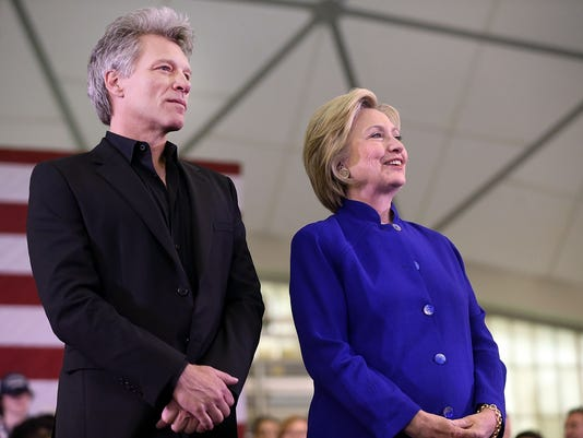 Clinton and Bon Jovi