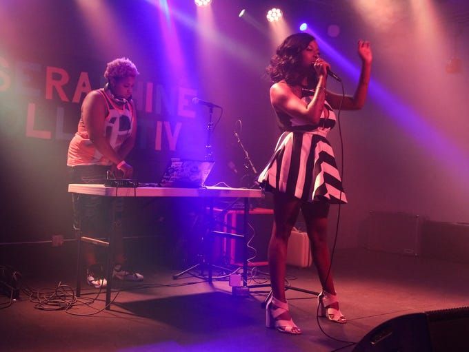 Detroit-based R&B musician Bevlove performs during