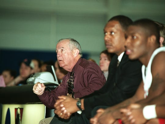Gerry Matthews coaching Stockton in 2007.