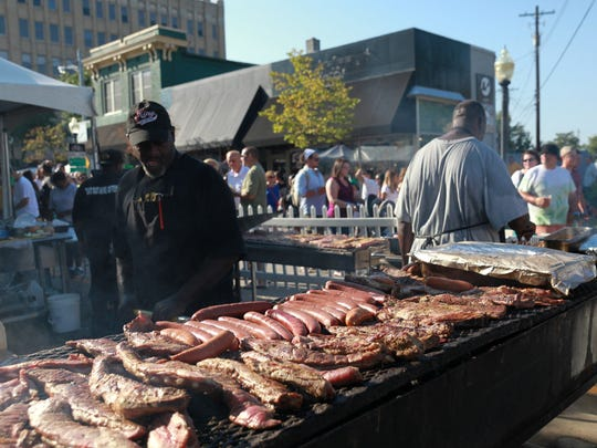 Barbecue, ribs, burgers and sausages are plentiful on the streets of Royal Oak during Arts, Beats & Eats.