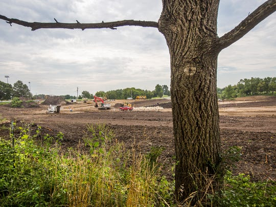 A new housing development along Warrior Rd. has removed hundreds of trees in Waukee, Monday, Aug. 29, 2016. Waukee has no rules for preserving trees in the city, while Johnston has a tree preservation ordinance that has been semi-restrictive when it comes to developing the piece of property for which the laws were written.