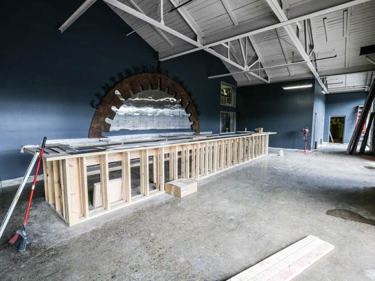 The tasting room is under construction at Centerpoint Brewing, inside the Circle City Industrial Complex.