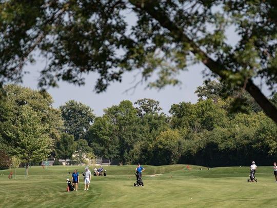 The Oshkosh North and West high school girls' golf