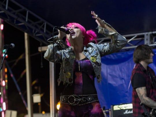 Detroit-based rock band Kaleido performs on the Alternative