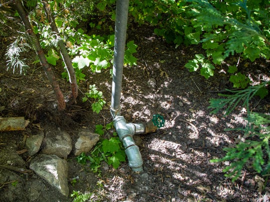 Don Bailey replaced an old valve that controlled water flow from his well in February, when his home ran completely out of water.  Since then he and his wife Sharon have had a limited supply of water coming into their home.
