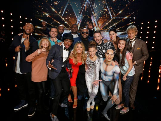 The top ten 'AGT' finalists are (from left to right):