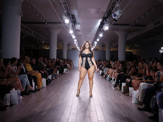 Ashley Graham walks the runway at Addition Elle Presents
