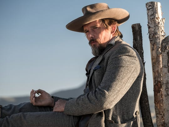 Ethan Hawke plays troubled sharpshooter Goodnight Robicheaux.