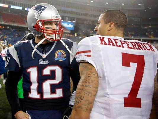USP NFL: SAN FRANCISCO 49ERS AT NEW ENGLAND PATRIO S FBN USA MA