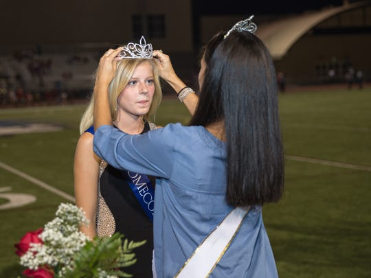 Cadie Kiser is crowned the 2016 Homecoming Queen at Chambersburg Area Senior High School's homecoming football game on Friday, September 23, 2016.