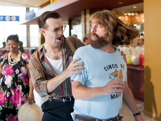 "Jason Sudekis and Zach Galifianakis star in the heist comedy ""Masterminds."""