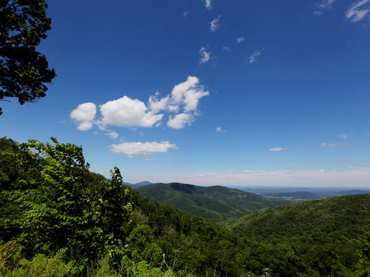 The current average visual range is approximately 23 miles, such as this view from an overlook along Skyline Drive in Shenandoah National Park in this photo taken on July 4, 2014.