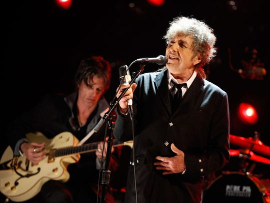 Bob Dylan, shown here in 2012 in Los Angeles, is the subject of a new book that will be discussed at the 2018 Rancho Mirage Writers Festival.