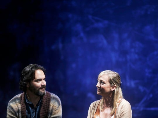"Actors Cody Nickell and Kate Eastwood Norris rehearse the play ""Constellations,"" by Nick Payne and directed by Matt Pfeiffer, put on by Gulfshore Playhouse at The Norris Center in Naples, on Tuesday, Oct. 4, 2016."