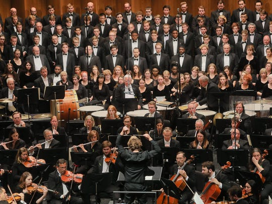 The Louisville Orchestra, Teddy Abrams, conductor, performing Mahler, Symphony No. 2 Saturday with Celena Shafer, soprano, J'Nai Bridges, mezzo-soprano and chorus directed by Kent Hatteberg at the Kentucky Center.
