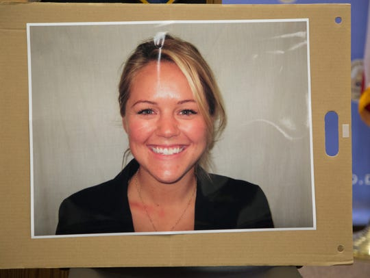A photo of Officer Lesley Zerebny is shown at the Palm