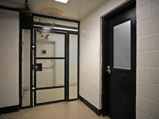 A small room at right is used for administering breathalyzer