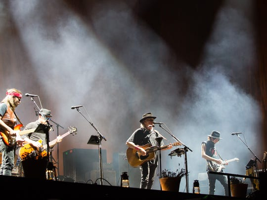 Neil Young and Promise of the Real perform on the second weekend of Desert Trip, October 15, 2016.