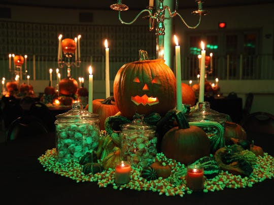 Thousands of pumpkins, jack-o'-lanterns and gourds