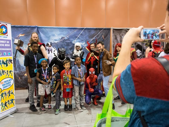 Characters and fans mingle, shop, and dress up at Phoenix