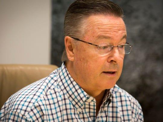 Congressman Rod Blum speaks with Des Moines Register