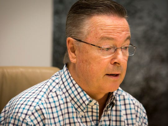Congressman Rod Blum speaks with Des Moines Register Editorial Board in Des Moines, Monday, Oct. 24, 2016.