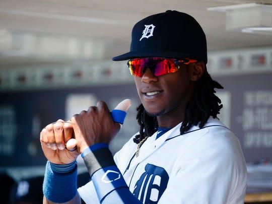 Aug 7, 2016; Detroit, MI, USA; Tigers centerfielder