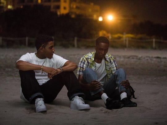 """Jharrel Jerome (left) and Ashton Sanders star in """"Moonlight."""""""