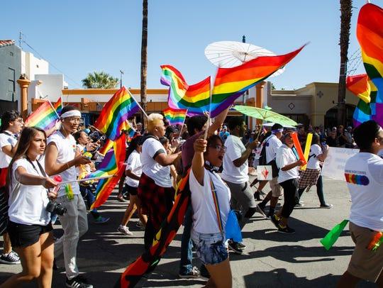 Students from local high school LGBTQ organizations