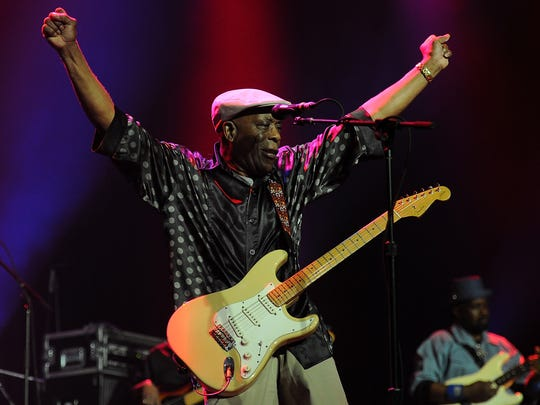 Buddy Guy performs live for fans at the 2014 Byron