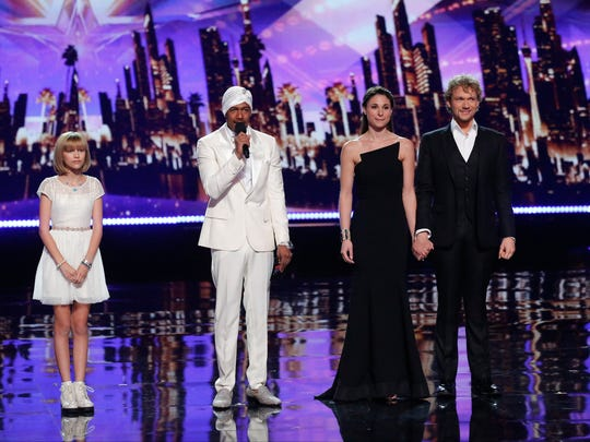 Grace VanderWaal, left, Nick Cannon and The Clairvoyants,