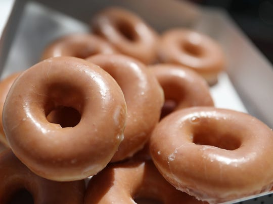 Enjoy one free doughnut and a cup of coffee from Krispy Kreme for Veterans Day.