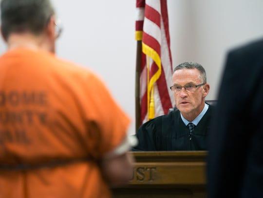 Broome County Judge Joseph Cawley sentences Almond