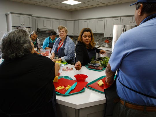 The Braille Institute in Rancho Mirage holds its first cooking class for students with vision loss in their remodeled kitchen, Thursday, November 10, 2016.