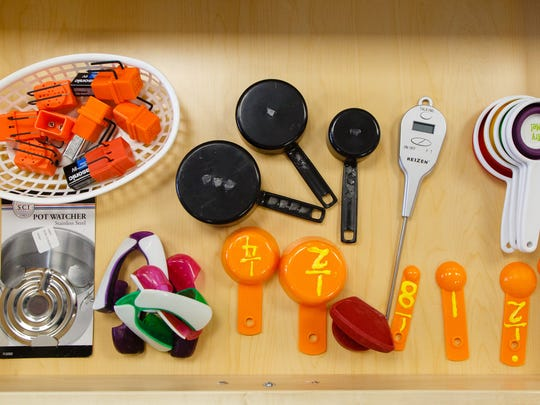 The remodeled kitchen at the Braille Institute in Rancho Mirage has numerous tools that can be easily used by individuals with vision loss, Thursday, November 10, 2016.