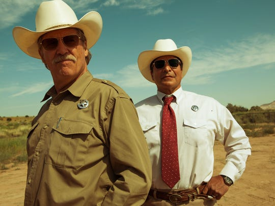 "(Left to right) Jeff Bridges and Gil Birmingham in ""Hell or High Water."""