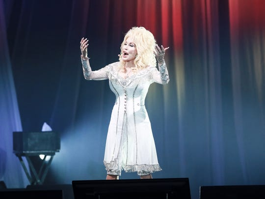 Dolly Parton performs at the American Bank Center on Friday, Dec. 2, 2016. She was awarded the Willie Nelson Lifetime Achievement Award at the Country Music Association Awards in November.