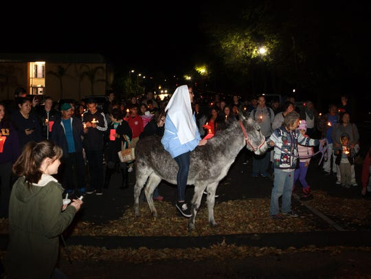 Las Posadas takes place at California Lutheran University in Thousand Oaks in 2016.