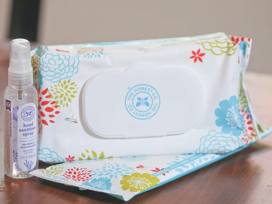 The Honest Company hand sanitizer and baby wipes. Oct.19,