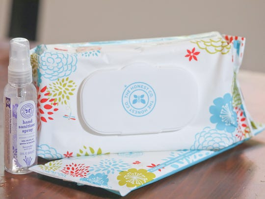 The Honest Company hand sanitizer and baby wipes. Oct.19, 2016