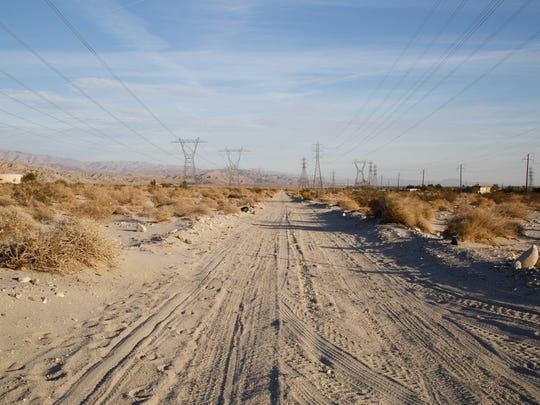 CVWD and the Army Corps of Engineers are proposing to build large flood control levees in the desert around Thousand Palms, Monday, December 5, 2016.