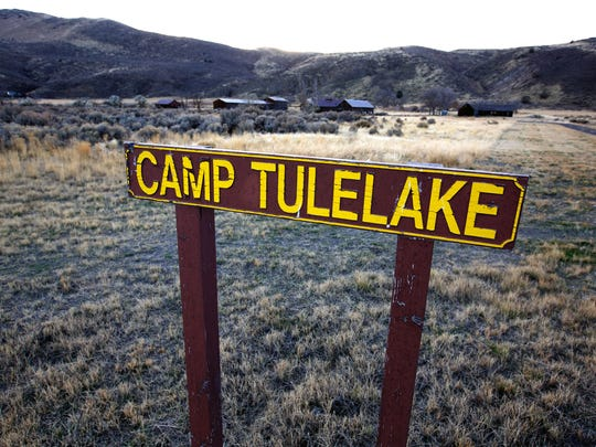 The entrance to Camp Tulelake, which was first a Civilian Conservation Corps camp, then an additional facility to detain Japanese Americans during WWII, and finally a prisoner of war camp, part of the National Park Service Tule Lake Unit, WWII Valor in the Pacific National Monument, shown on Nov. 13, 2016 in Tulelake, Calif. Camp Tulelake was constructed in 1935. (Gary Coronado/ Los Angeles Times/TNS)