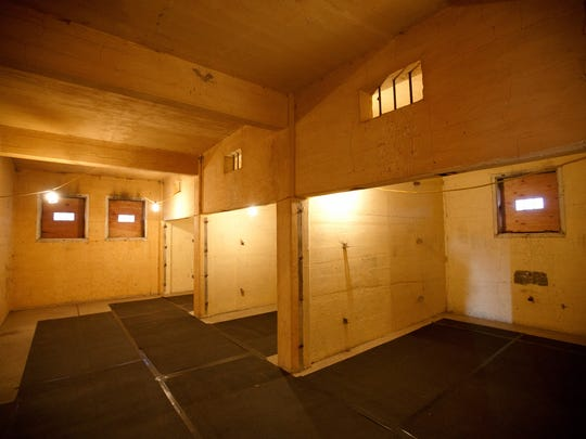 The interior of the high security jail at the Tule Lake Segregation Center, the largest and most controversial of the sites where Japanese Americans were incarcerated during World War II, on Nov. 14, 2016 in Newell, Calif. (Gary Coronado/ Los Angeles Times/TNS)