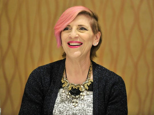 Lisa Lampanelli speaks at the Dramatists Guild of America's 'Writing the Changing World'  National Conference 2015 in La Jolla, California.